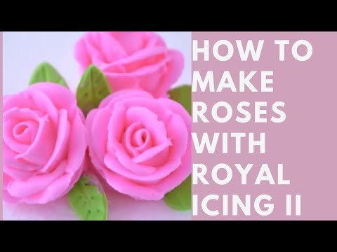 How to make Roses with Royal Icing