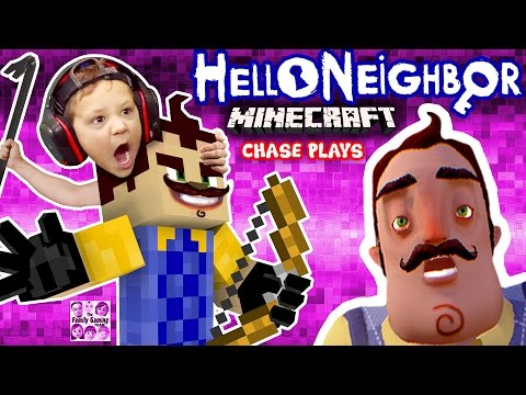 HELLO NEIGHBOR MINECRAFT IMPOSTER! FGTEEV Chase Plays! (Mod Map of Horror Adventure w/ ZOMBIE)