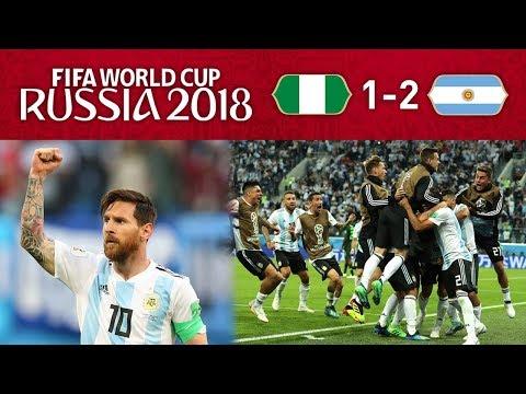 NIGERIA 1-2 ARGENTINA - MESSI THE GOAT STRIKES!