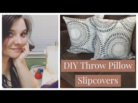 DIY Envelope Throw Pillow Slipcovers