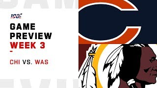 Chicago Bears vs. Washington Redskins Week 3 NFL Game Preview