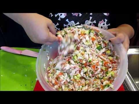 Ceviche Crab Salad)