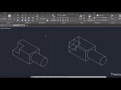 Isometric drawing in AutoCAD, complete tutorial