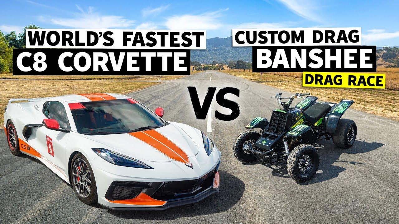 Race Spec Banshee vs. Emelia Hartford in the World's Fastest C8 Corvette // This vs. That