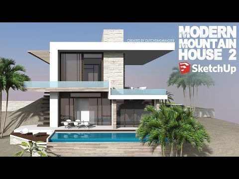 Sketchup - Speed Build - Modern Mountain House 2