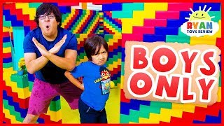 Giant Lego Box Fort No Girls Allow!!!!