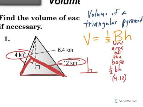 Volume of a Triangular Pyramid