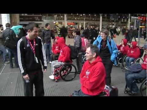 London Marathon wheelchair stars arrive from Boston