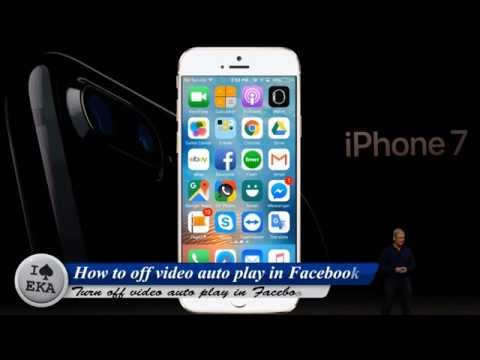 How to turn off facebook video autoplay on IPhone IPad