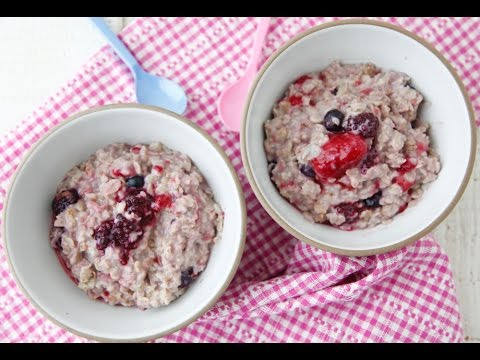 Berry Delicious Oatmeal - Healthy Breakfast Recipes - Weelicious