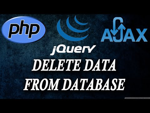 ajax jquery php delete all data from database history clear part 5