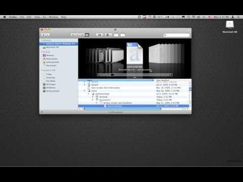 Mac OS X Finder Basics