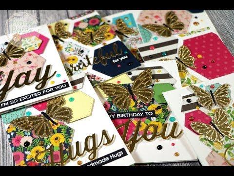 MFT Glitter Foiled Butterflies Card Set