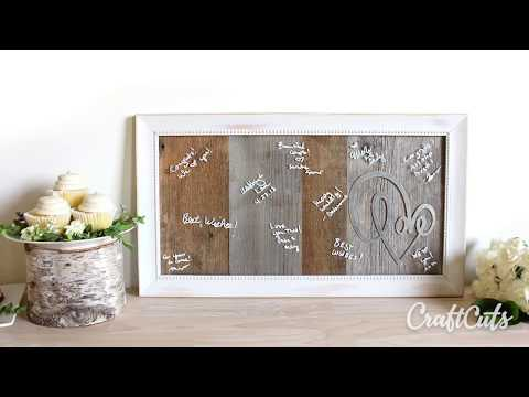 Love Script Reclaimed Wood Sign - Guest Book Sign or Message Board