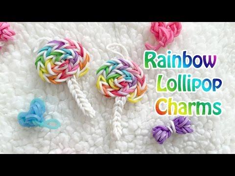 Rainbow Loom Charm: Lollipop Candy Charm (Original Design)