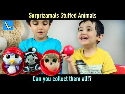 Surprizamals Stuffed Animals. Can you collect them all!? Let's Play Kids.