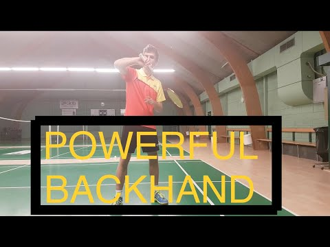 BADMINTON EXERCISE #28 - HOW TO POWER UP YOUR BACKHAND (WAVE)