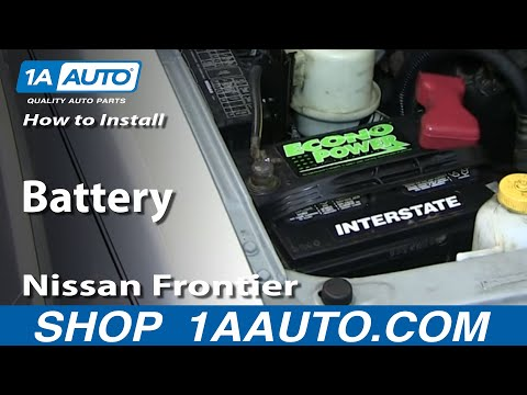How To Install Replace Fix Remove Dead Battery 2001-04 Nissan Frontier