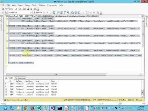 Reset Identity in SQL server
