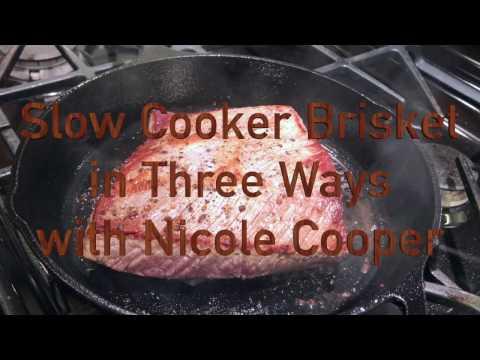 Slow Cooker Brisket in Three Ways