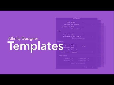 Affinity Designer - Document Templates