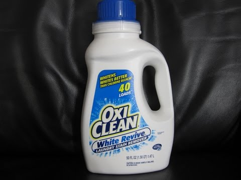 OxiClean White Revive- how to remove stains from long term storage & yellow stains