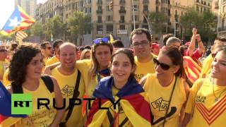 Spain: Two million Catalans demand independence on Barcelona streets