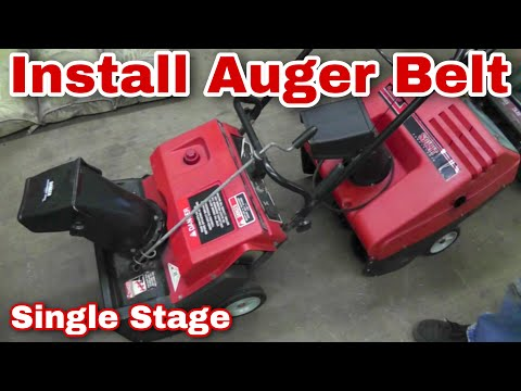 How To Replace An Auger Belt on A Single Stage Snowblower with Taryl MTD Craftsman Murray
