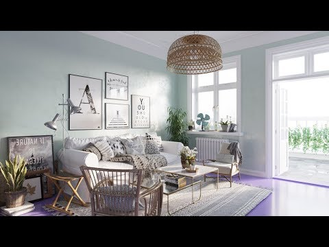 Architectural Visualizations: Nice Living Room 026 renderings using Corona 1.7 for 3ds max 2018