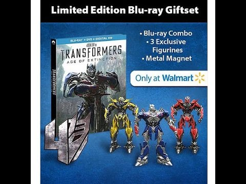 Unboxing: Transformers 4 Age Of Extinction (Blu-ray + DVD + Digital HD + 3 Figurines + Magnet)