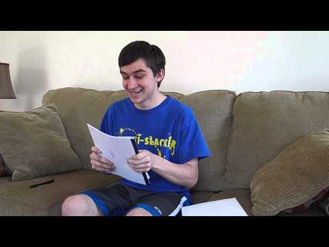Jesse opening his mission letter! :)