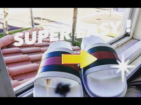 HOW TO CLEAN GUCCI FLIP FLOPS!