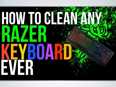 HOW TO CLEAN ANY RAZER KEYBOARD EVER