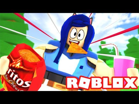GETTING SUPER FAT IN ROBLOX! ROBLOX EATING SIMULATOR!!