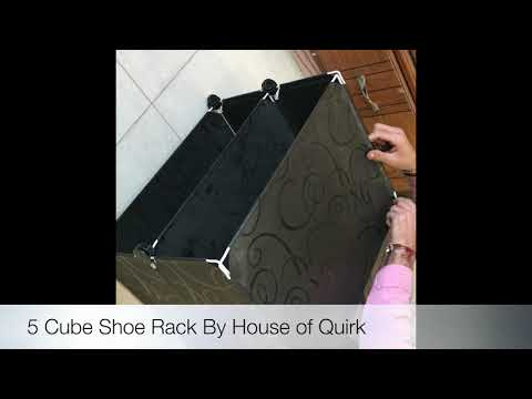 DIY Shoe Rack Plastic Shoe Storage Organizer Cabinet with Doors Black