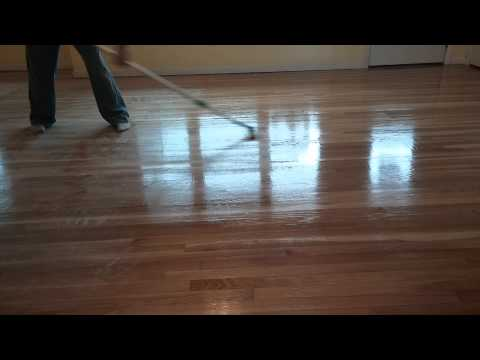 Hardwood Floor.  Sanding Polyurethane Technique