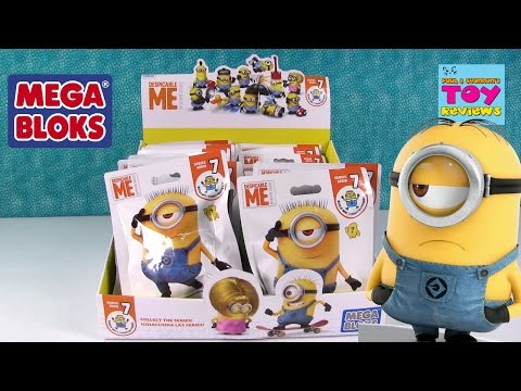 Minions Despicable Me Mega Bloks Series 7 Blind Bag Opening   PSToyReviews