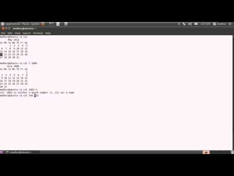 Shell Scripting Tutorial-3: View System Date, Calender