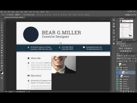 Resume/CV Editing With Adobe Photoshop CC