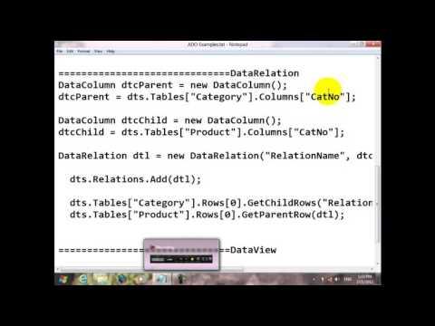 70 Course C# Resala   DataView   DataRelation   DataColumn   DataRow   DataSet   DataTable