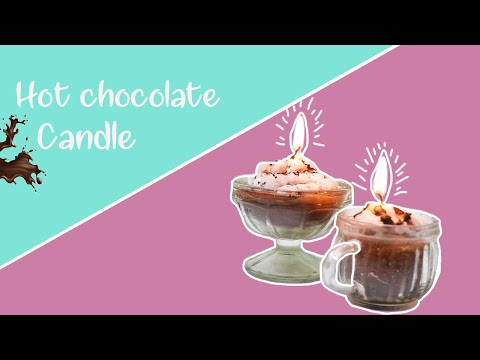DIY hot chocolate candle | easy candle making |