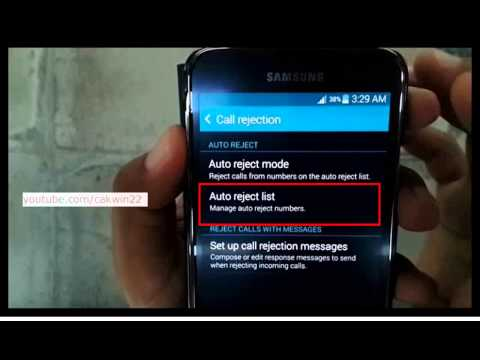 Samsung Galaxy S5 : How to unblock a number (Android Phone)