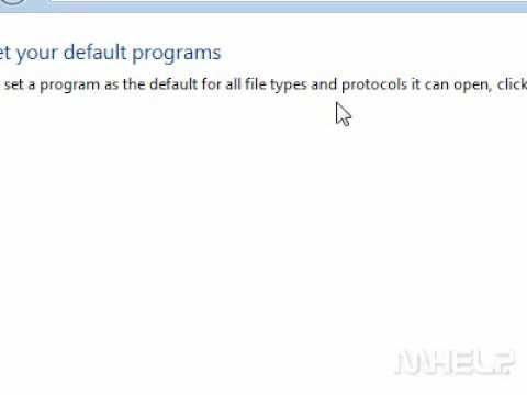How to change the default programs used