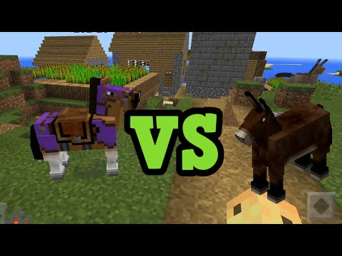 Minecraft Horses vs Donkeys vs Mules - Differences Explained
