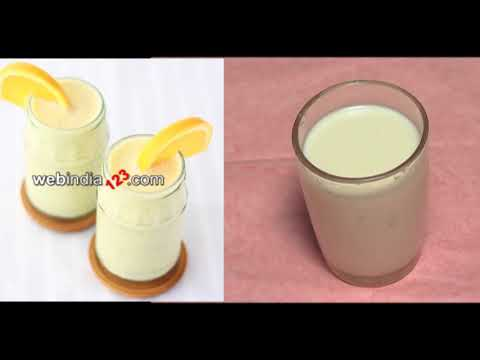 Orange Milkshake Recipe | Webindia123.com
