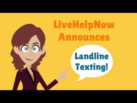 Landline texting, live chat SMS