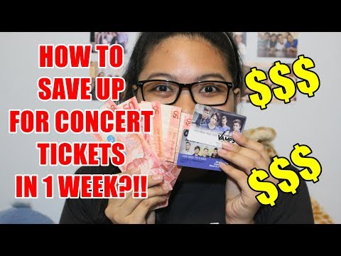 SAVING UP FOR CONCERT TICKETS? || Louise Marquez