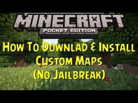 Minecraft PE - How To Download & Install Custom Maps (No Jailbreak)