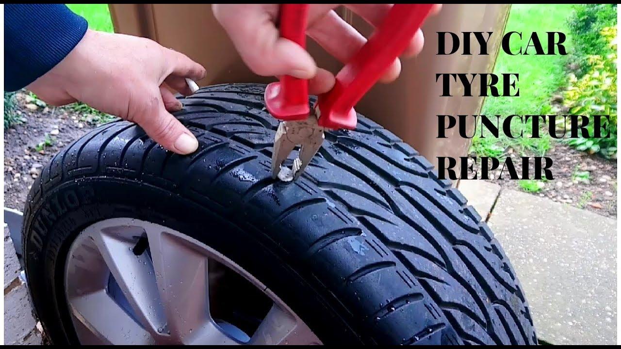 DIY CAR TYRE PUNCTURE REPAIR