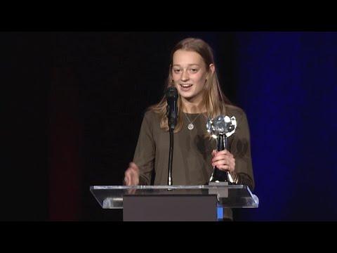 DSHA's Natalie Sanchez accepts Courage award
